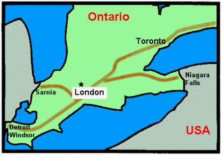 London Ontario map Ashworth Drainage