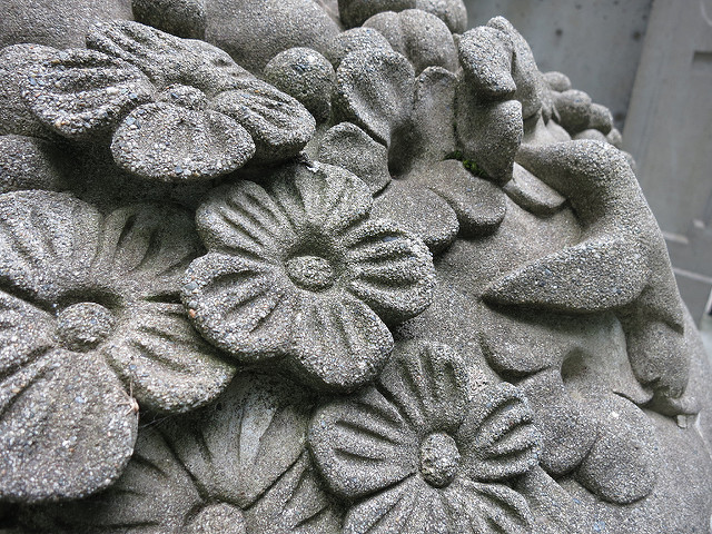 concrete flowers