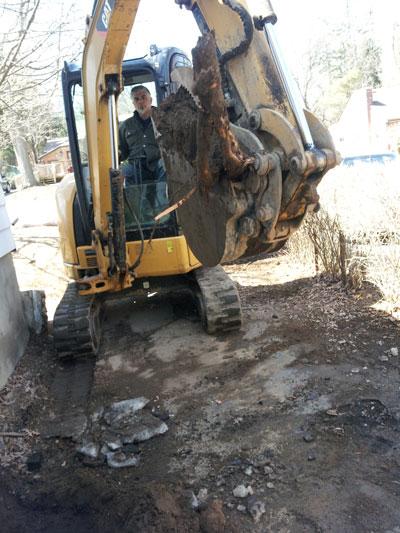 Excavation machine Ashworth Drainage